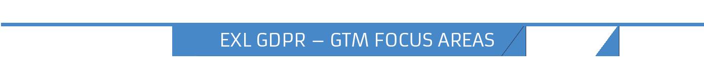 EXL GDPR – GTM FOCUS AREAS-1