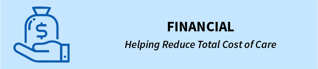Financial - Helping Reduce Total Cost of Care