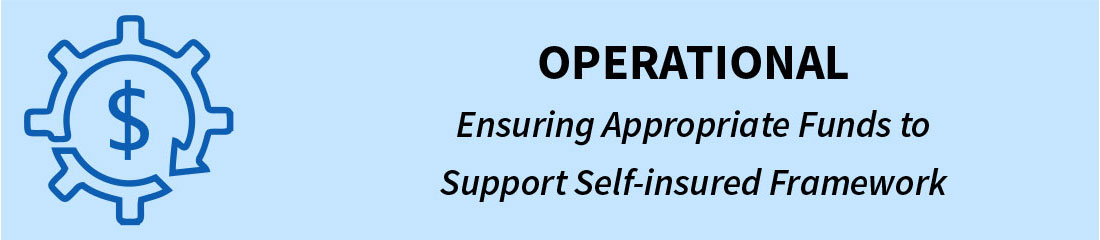 Operational - Ensuring Appropriate Funds to Support Self-insured Framework