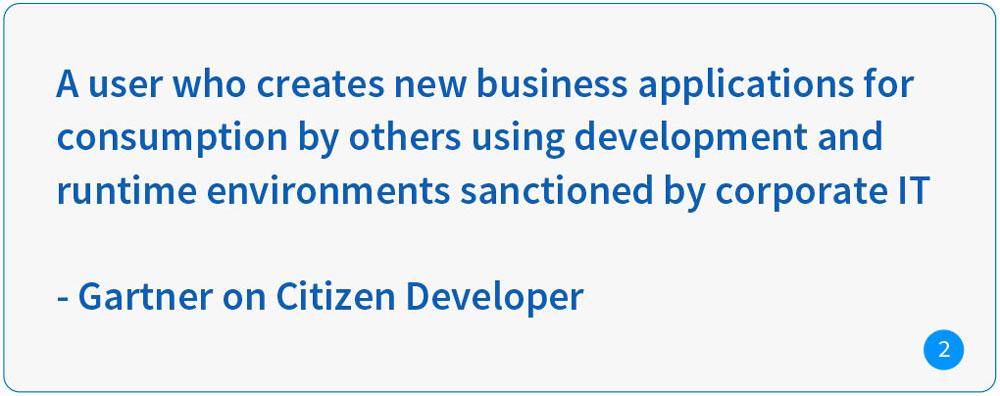 Gartner on Citizen Developer