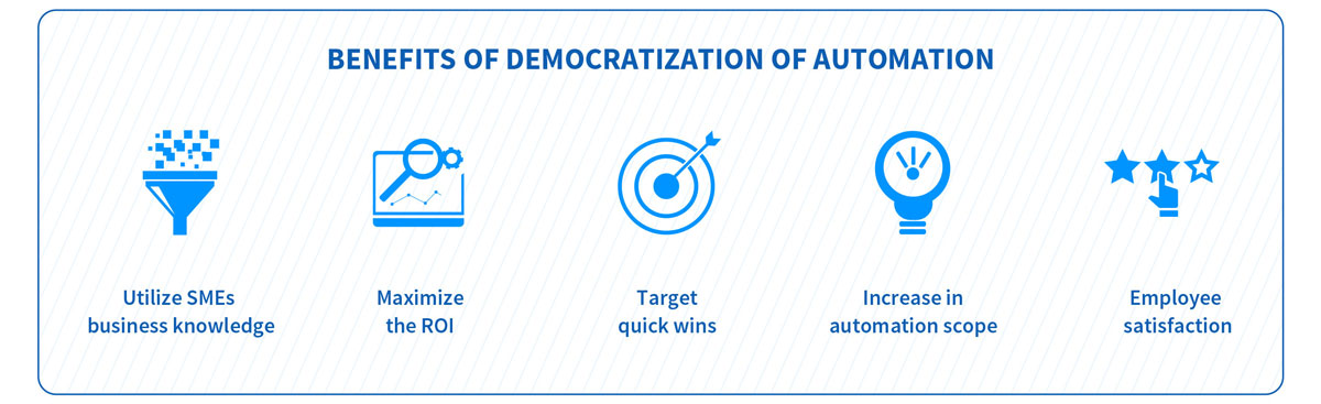 Benefits of Democratization of Automation